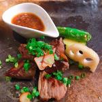 黒毛和牛のサイコロステーキ(串カツ とんかつ jiro)