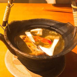 鱧とマツタケの土瓶蒸し(旬の味 たき下 (たきした))