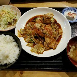 豚味噌炒め定食(大衆食堂あらたま)