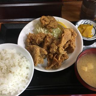 鶏唐揚げ定食(ふじ )
