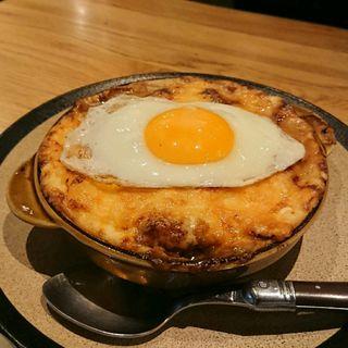 ハンバーググラタン+目玉焼きトッピング(山本のハンバーグ 渋谷食堂)