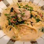 広島産牡蠣のフェトチーネクリームソース