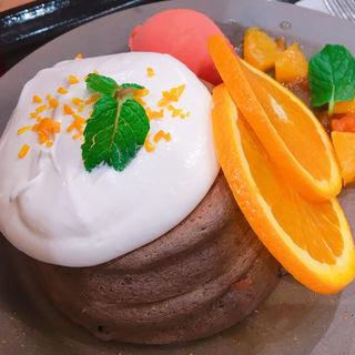ショコラオランジュフォンダンパンケーキ(ELK NEW YORK BRUNCH あべのキューズモール店)