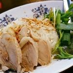 Aセット(生麺フォーと蓮茶と海南チキンライスのセット)