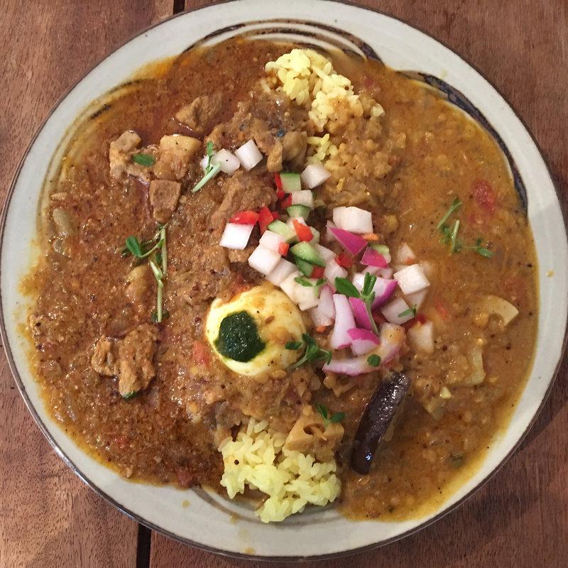 スパイスポーク&レンズ豆のカレー