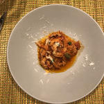 トリッパのトマト煮込み パルミジャーノチーズ焼き(ペペロッソ )