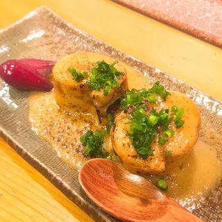 焼きあん肝酢味噌(三茶栄鮨 (さんちゃさかえずし))