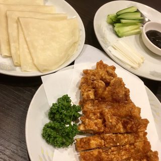 揚げ鶏のネギ味噌薄皮包み(4枚)(蘇州 )