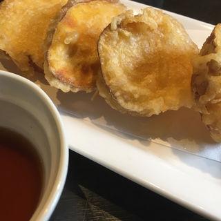 安納芋の天ぷら(手打ちそば よしなり)