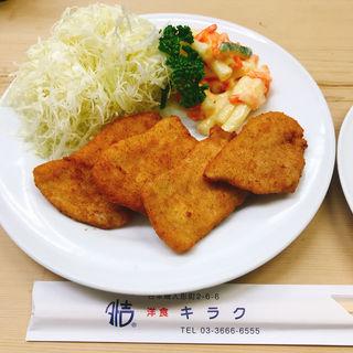 ポークカツ定食(洋食 キラク )