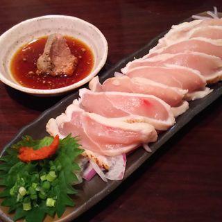 総州 紅楽美の胸たたき 特製肝ポン酢(とり鉄 五反田駅前店 (とりてつ))