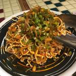 細切り豆腐と香菜の和えもの
