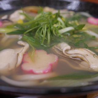 広島(牡蠣と白ネギのおうどん)(手打ちうどん 紅屋)