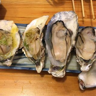 牡蠣のネギバター焼き&牡蠣焼き(駅前酒場 肴や)