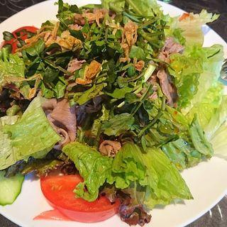 牛肉とクレソン、ミントのサラダ(ニャーヴェトナム・プルミエ 二子玉川店 )