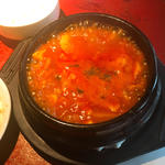 スン豆腐チゲ定食(辛)