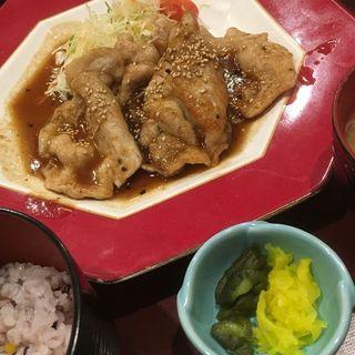 生姜焼き定食(つきじ植むら 池袋サンシャインシティ アルパ店 )