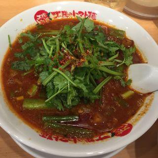 秋季限定やみつきパクチーのスパイシートマト麺(太陽のトマト麺 三田店 )