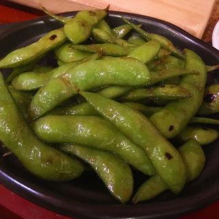 焼きバター枝豆(アウグス谷中ビアホール 夕やけだんだん店)