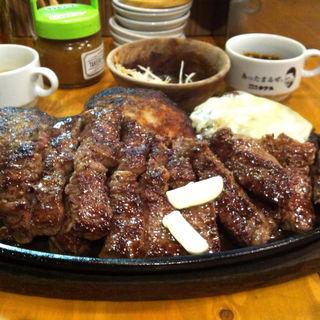 1kg★ステーキ&ハンバーグコンボ(タケル 天満店 )