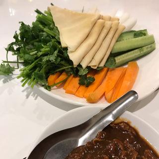 野菜押し豆腐手巻(味坊 (アジボウ))