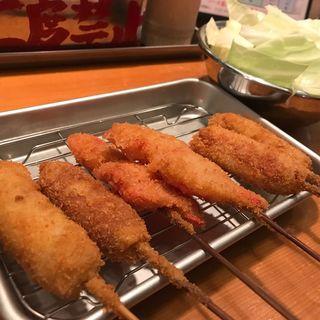 串カツ(豚カツ・ウインナー・紅しょうが)(ふみ勝 冷泉公園店)