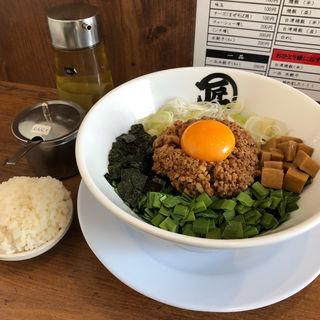 台湾塩まぜそば(麺や マルショウ 豊中本店)