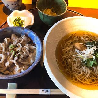 お昼のそばセット(永田町 黒澤 (ながたちょう くろさわ))