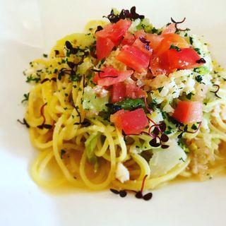 生パスタのイカと海老のペペロンチーニ(レストラン タガミ (Restaurant Tagami))