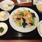 豚肉薄切りの辛子炒め (ランチ)