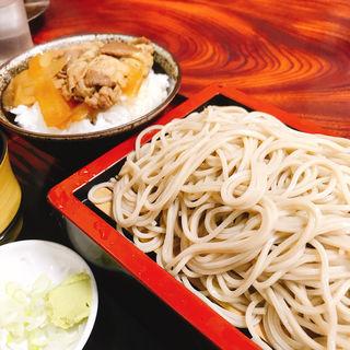 もり+ミニ牛丼(吉野庵)