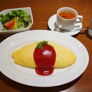 昔ながらのオムライスセット(八重洲 洋食一番街 )
