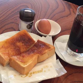 トースト、たまご、アイスコーヒー(ライブコーヒー 築地店 )