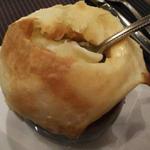 マッシュルームのクリーム煮のつぼ焼き