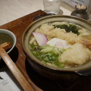 大海老天ぷら鍋焼きうどん(ひだりうま )