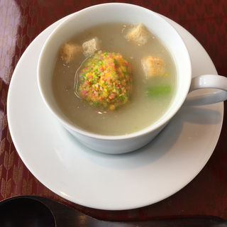 じゃが芋和風ポタージュ 鶏つみれ彩り揚げ(Relax (リラックス))