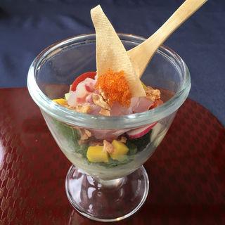 明石鯛と白菜豆富のパフェ仕立て(Relax (リラックス))