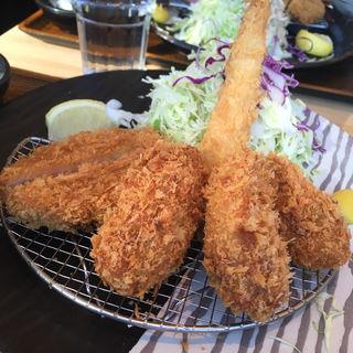 かきフライご馳走定食(すずや 秋葉原店 )
