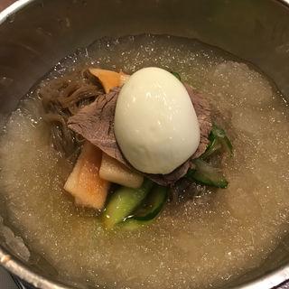 ランチBセットの冷麺(韓国食彩 にっこりマッコリ そごう千葉店 )