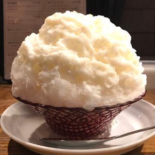 「雁木」の甘酒ミルク(まめ茶和ん)