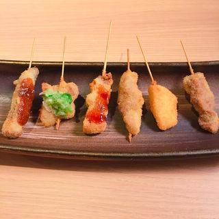 串カツ盛り合わせ 肉盛り(串カツ とんかつ jiro)