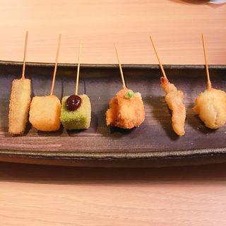 串カツ 和食材の盛り合わせ(串カツ とんかつ jiro)