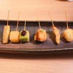 串カツ 和食材の盛り合わせ