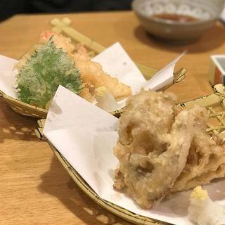 蝦夷舞茸天ぷら(町のすし屋 四季花まる すすきの店)