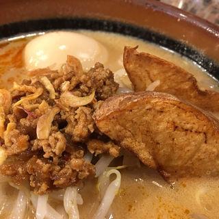 北海道味噌ラーメン +味玉をトッピング(麺場 田所商店 成瀬店)