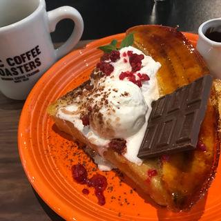 バナナフレンチトースト(マック・コーヒー・ロースターズ うつぼ公園店)