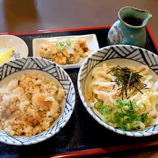 うどん定食(ぶっかけうどん大円)