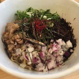 煮干混ぜそば(麺屋M)
