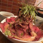 ローストビーフ丼ひつまぶし風富士山