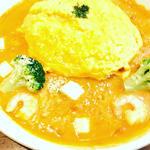 海老とモッツァレラチーズのトマトクリームオムライスドリア